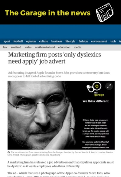 Our job ad recruiting dyslexics went global
